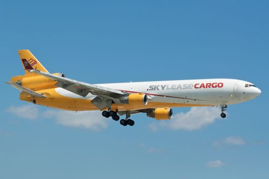 Skylease Cargo MD-11F auf final approach MIA