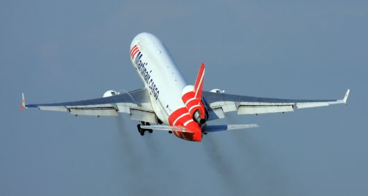 Martinair McDonnell Douglas MD-11F takeoff in AMS