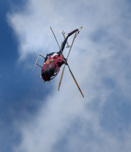 Polizeihubschrauber: Flying Bulls BO 105 bei der Airpower13